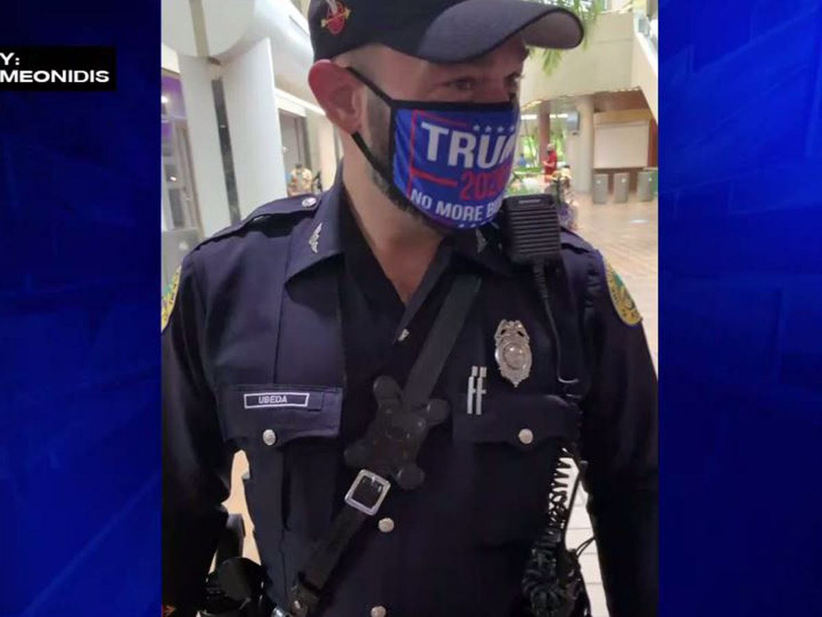 Officer to be disciplined for wearing pro-Trump mask at Fla. voting site