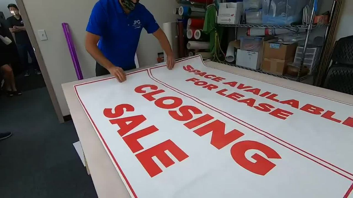 A sign of the times: There's a mini-boom in orders for business closing signs