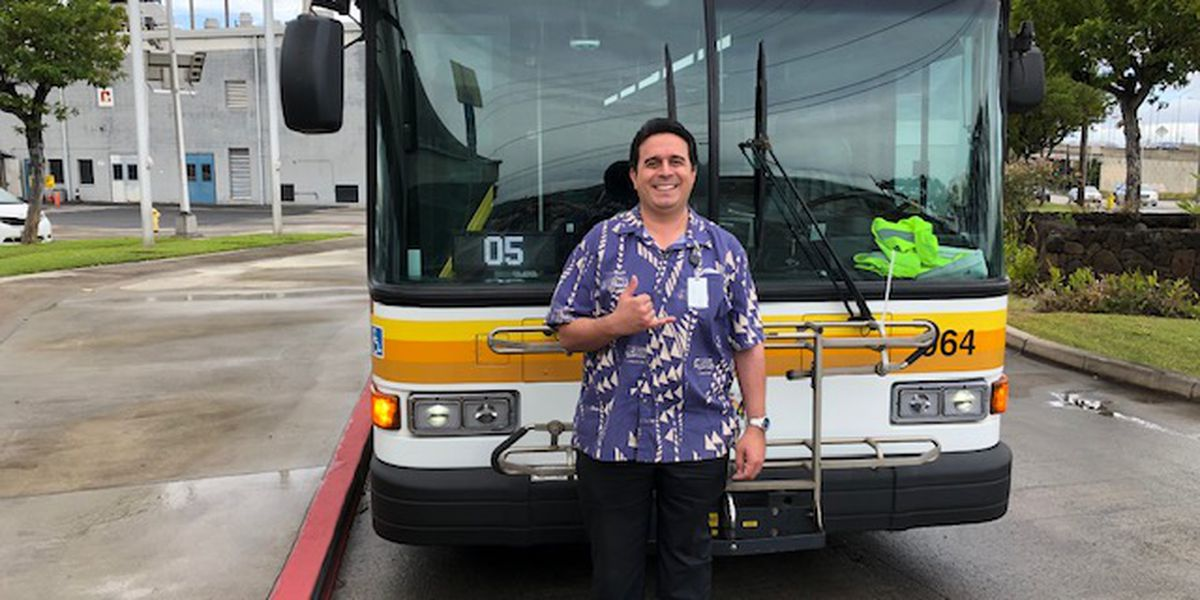The best darn bus driver in these parts: Douglas Rego, king of the 'Roadeo'