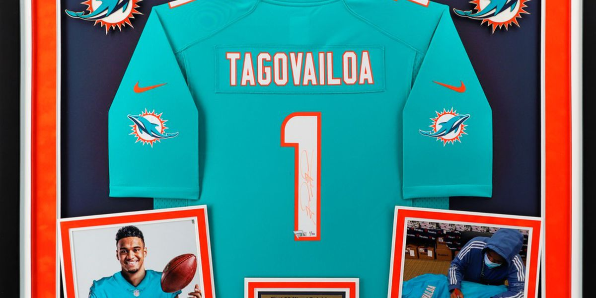 NFL to auction off Tua Tagovailoa's first signed Dolphins jersey for charity