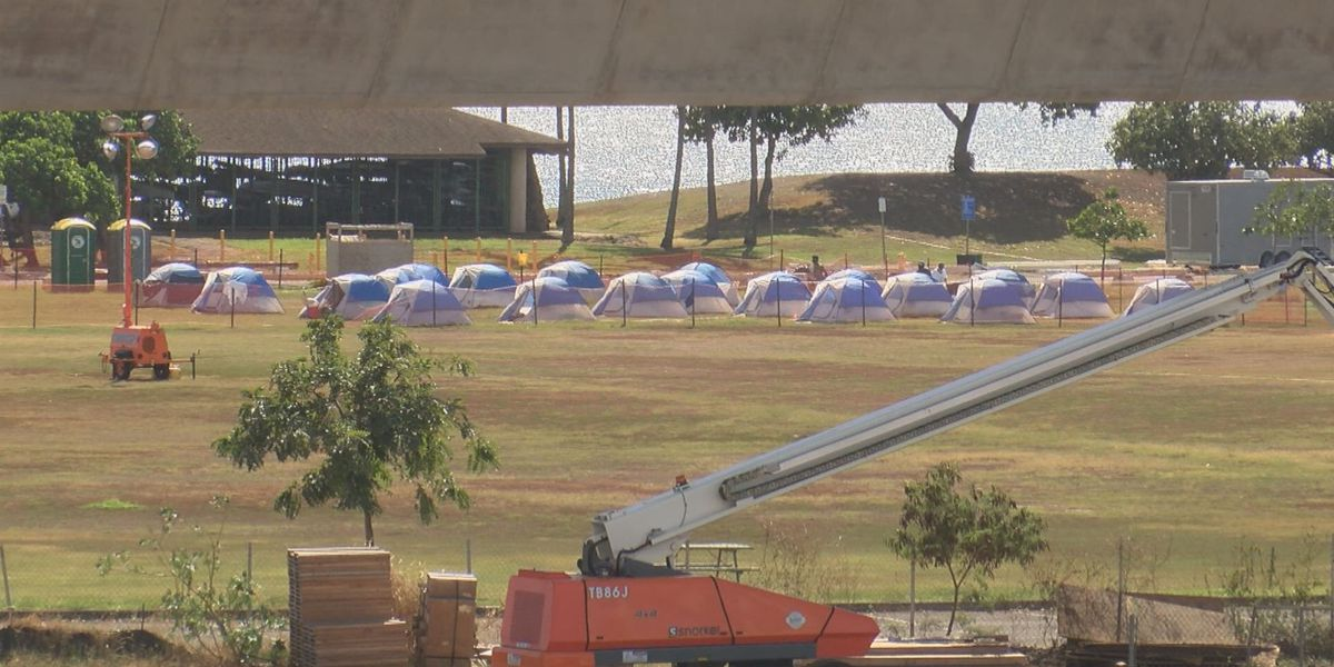 Despite millions in federal funds, HPD's tent city at Keehi Lagoon sits mostly underutilized