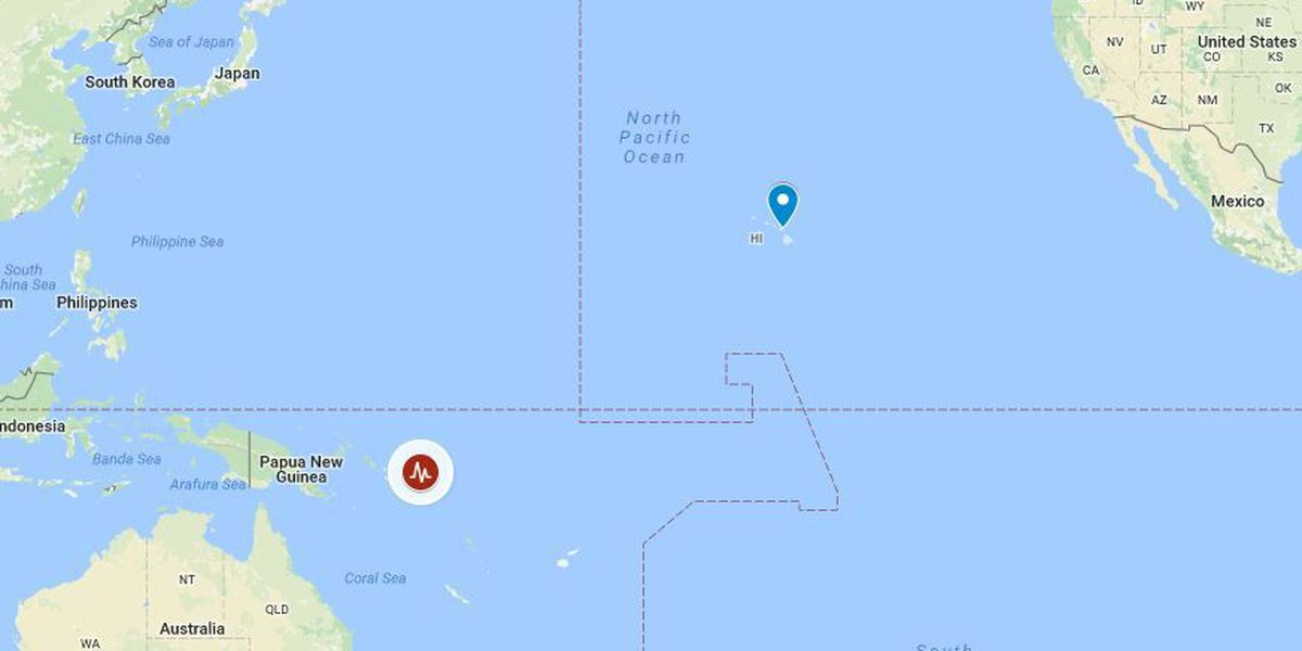 6.4-magnitude quake shakes Solomon Islands, but no tsunami threat to Hawaii