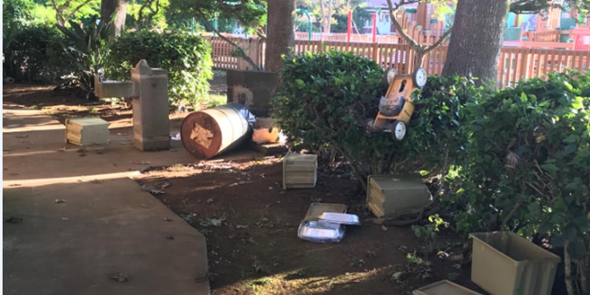 Vandals damage Big Island park, closing it for $12K repairs