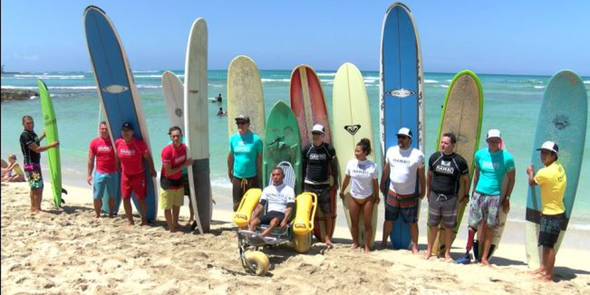Adaptive surfing community teams up with Surfing with the Stars for a good cause
