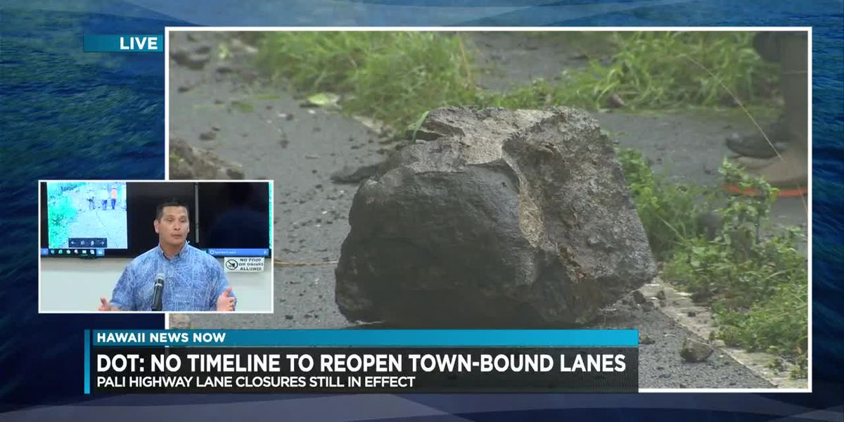 WATCH: Hawaii Dept. of Transportation press conference on Pali Highway closure