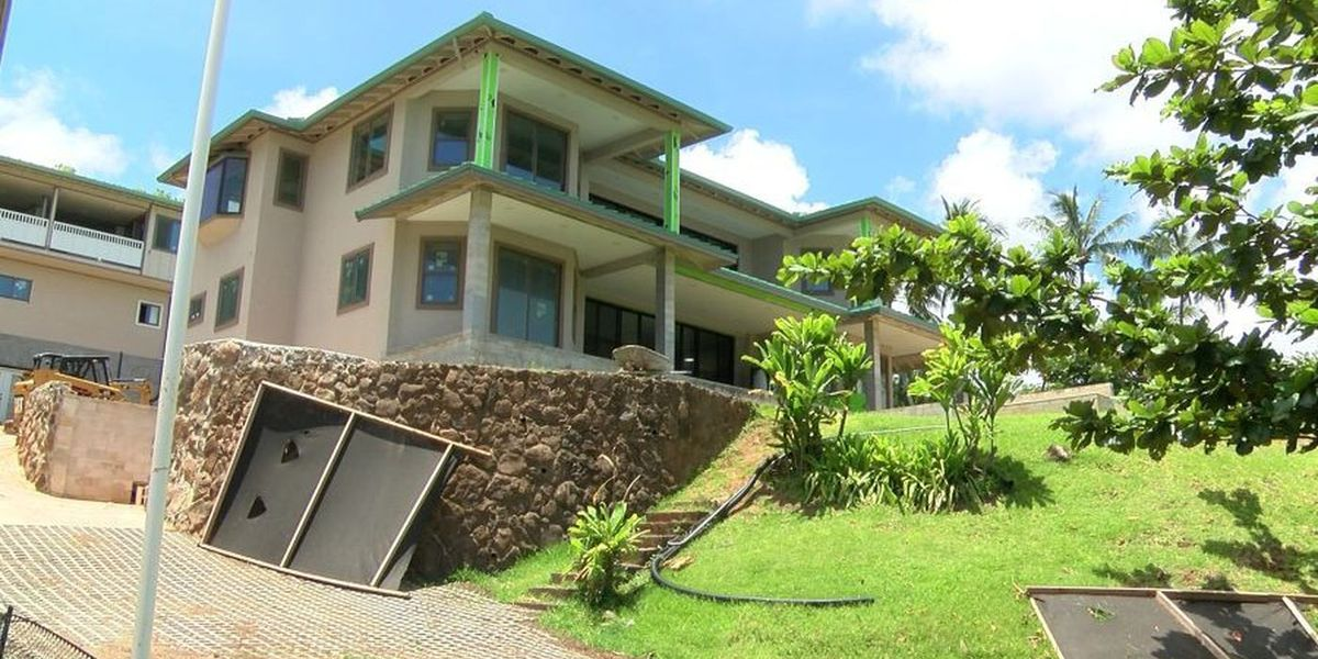 Neighbors at odds over years-long construction of Kaneohe mega-home