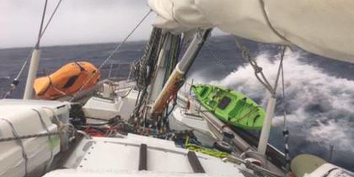 Record-setting swimmer's escort kayaks stolen off Queen's Beach