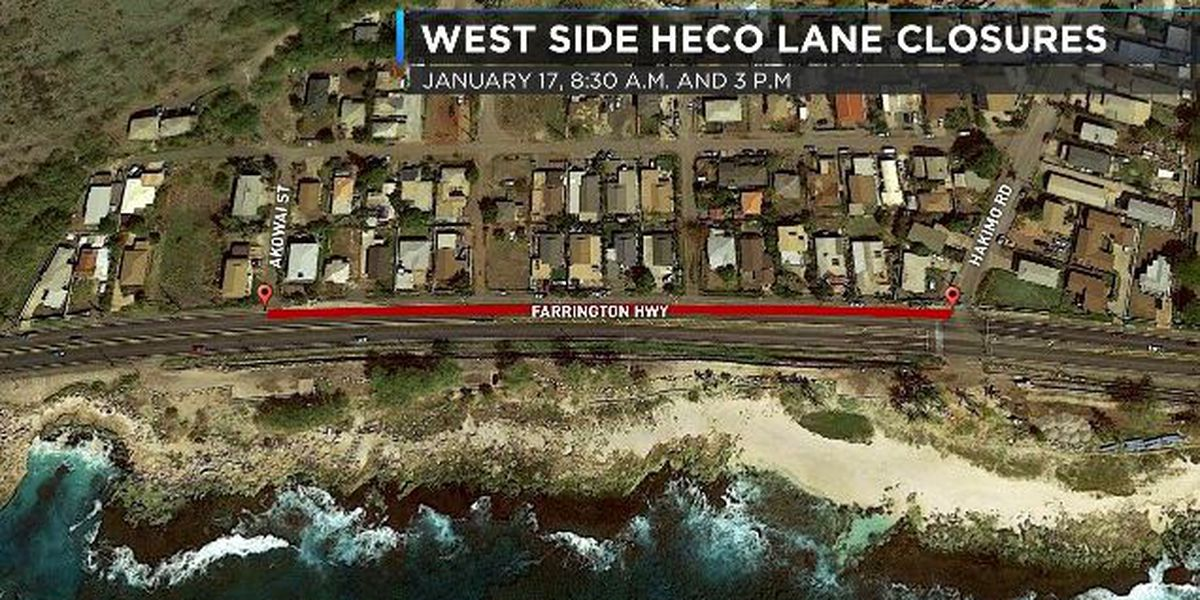 TRAFFIC: A portion of Farrington Highway to close Thursday