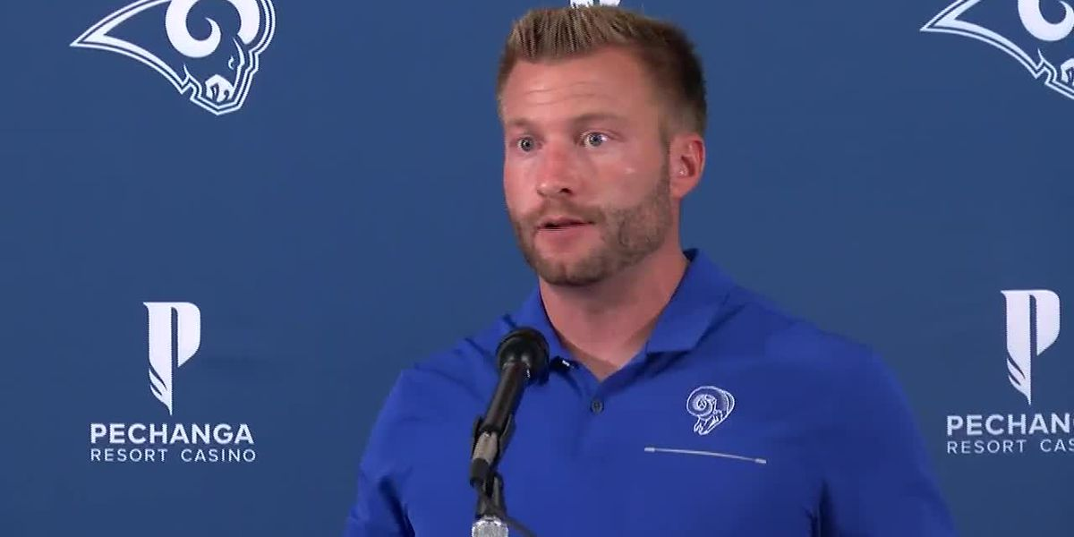 Sean McVay address media before returning Rams to Los Angeles