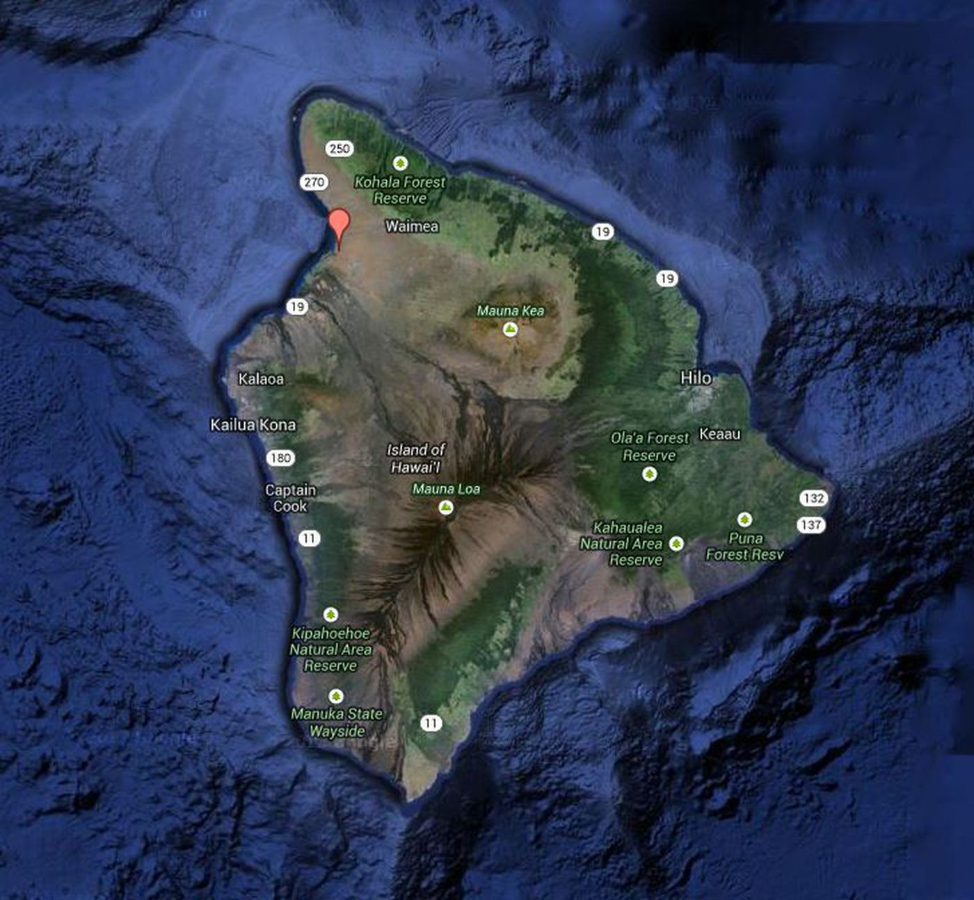 Kohala Hawaii Map.Exclusive Big Island Police Investigate South Kohala Murder Mystery