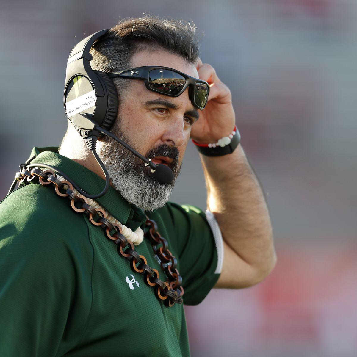 Hawaii head football coach Nick Rolovich named Mountain West Coach of the Year
