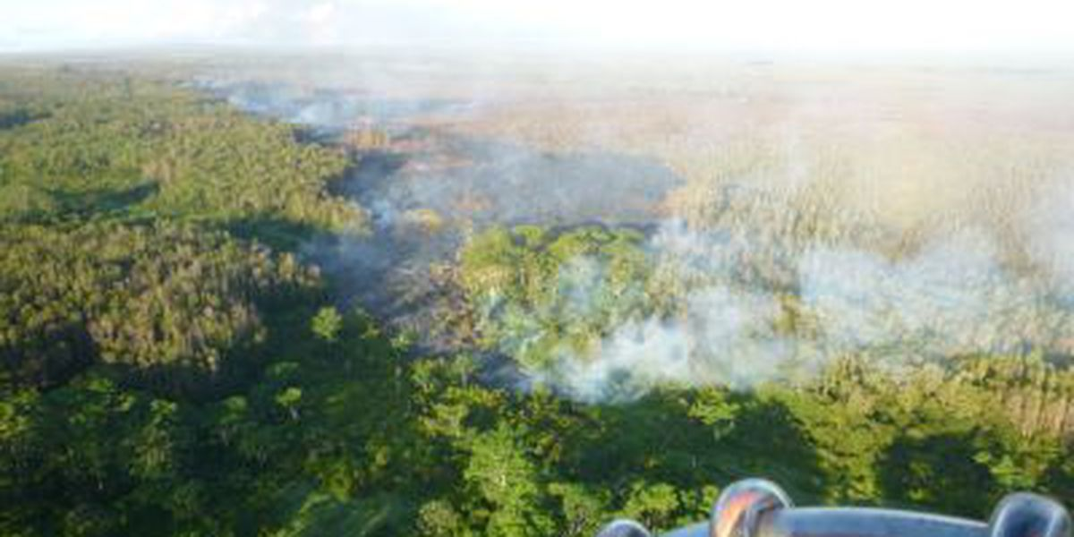 Breakout pushes past Puna lava flow front as it continues to widen