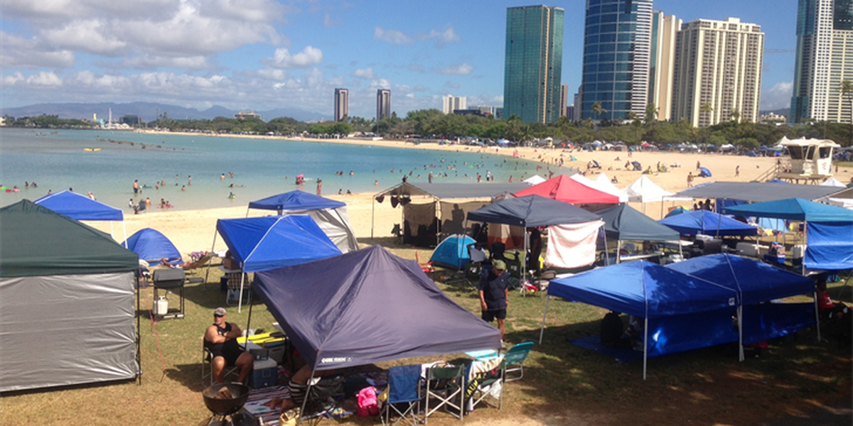 Limited camping allowed at Ala Moana Park for July 4
