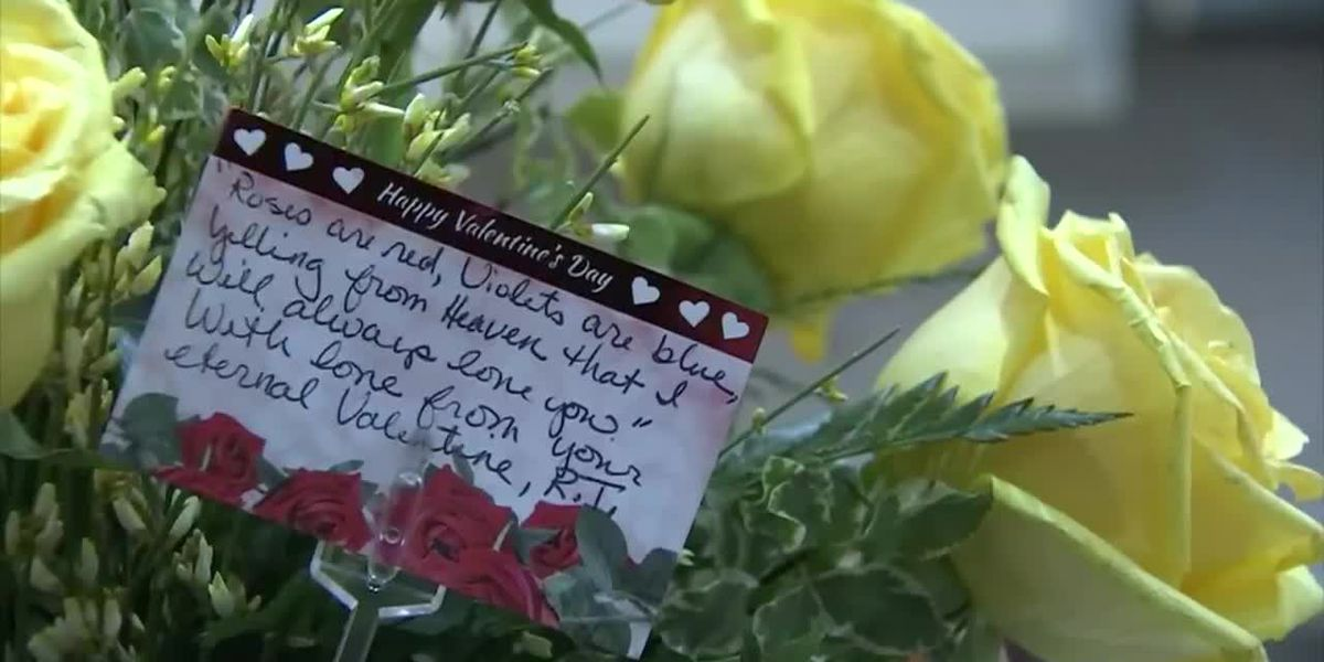 Her husband died in December; She still got Valentine's flowers from him this year
