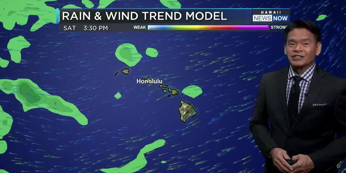 Drying trend with strong trade winds