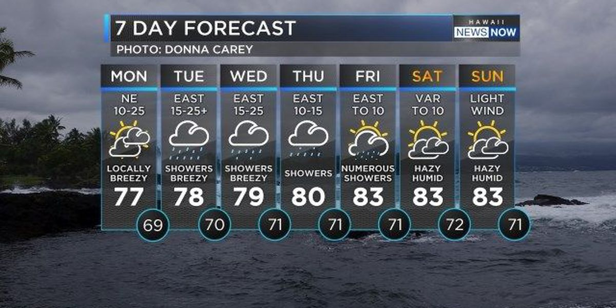 Forecast: Wet weather pattern setting up to start the week