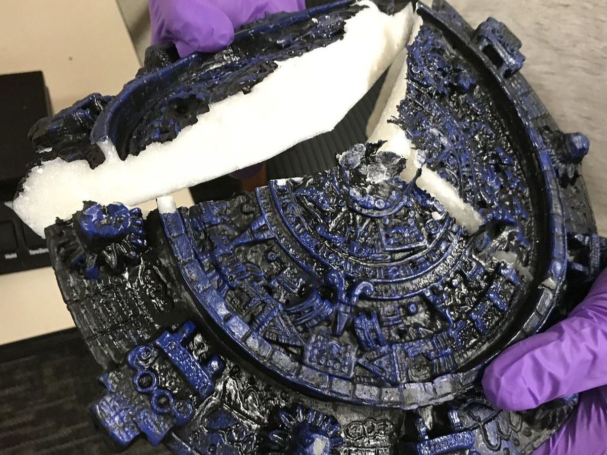 California drug trafficking ring tried to ship meth to Hawaii disguised as Aztec items