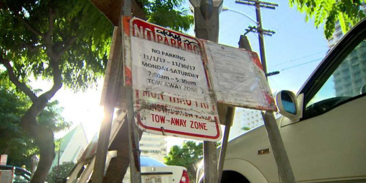 No parking, no patience: Some irked by commercial use of Waikiki street parking