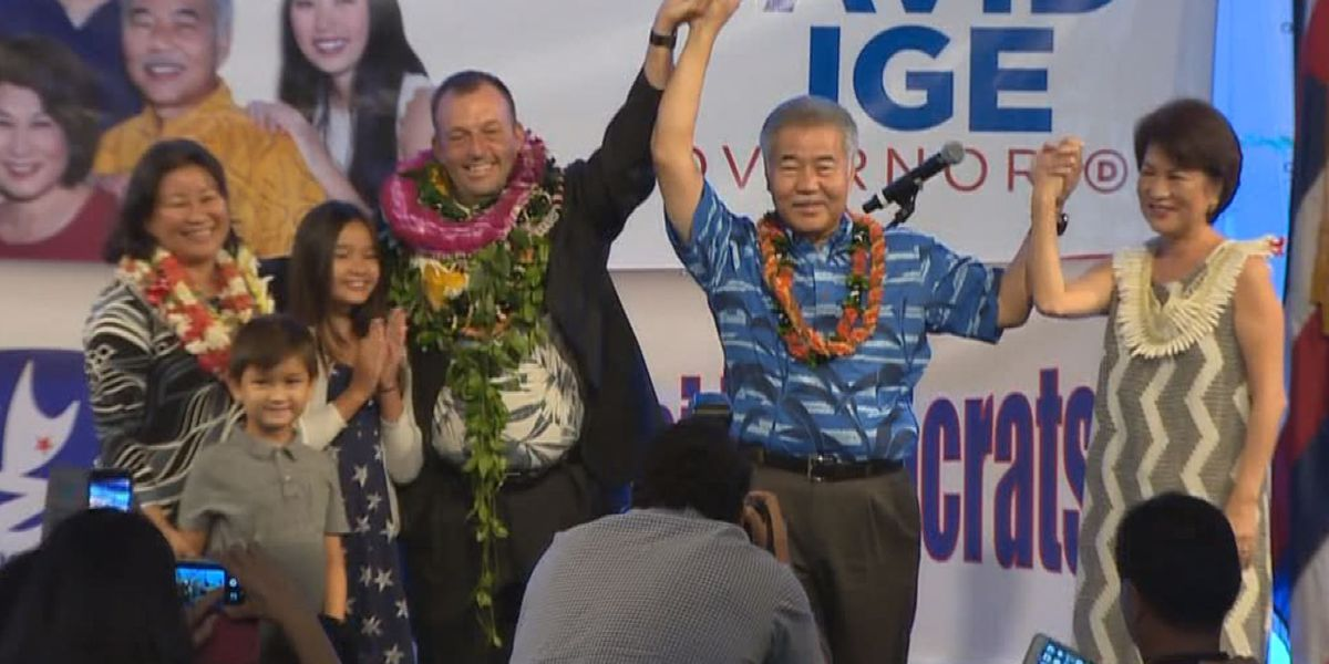A day after landslide re-election win, Ige says it's time to get back to work