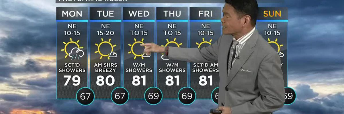 Forecast: Still a chance for spotty downpours, thunder for eastern half of the state