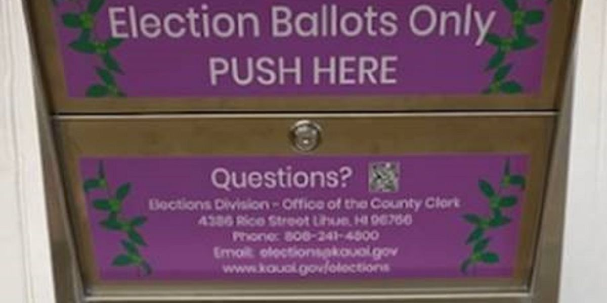 Kauai County lists 11 ballot drop box locations ahead of general election