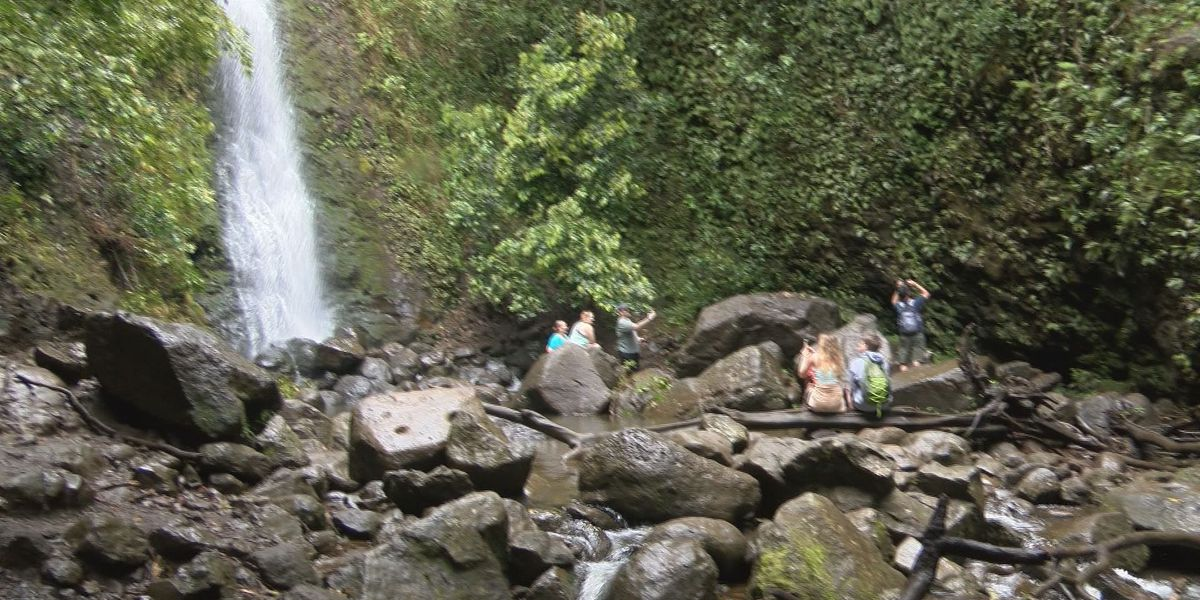 Lulumahu Falls trail remains open after a fallen boulder injures two hikers