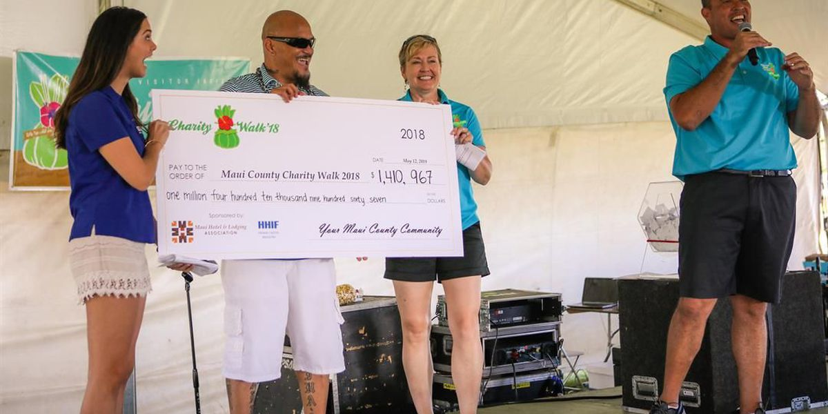 Maui County charity walk raises over $1.4M for community