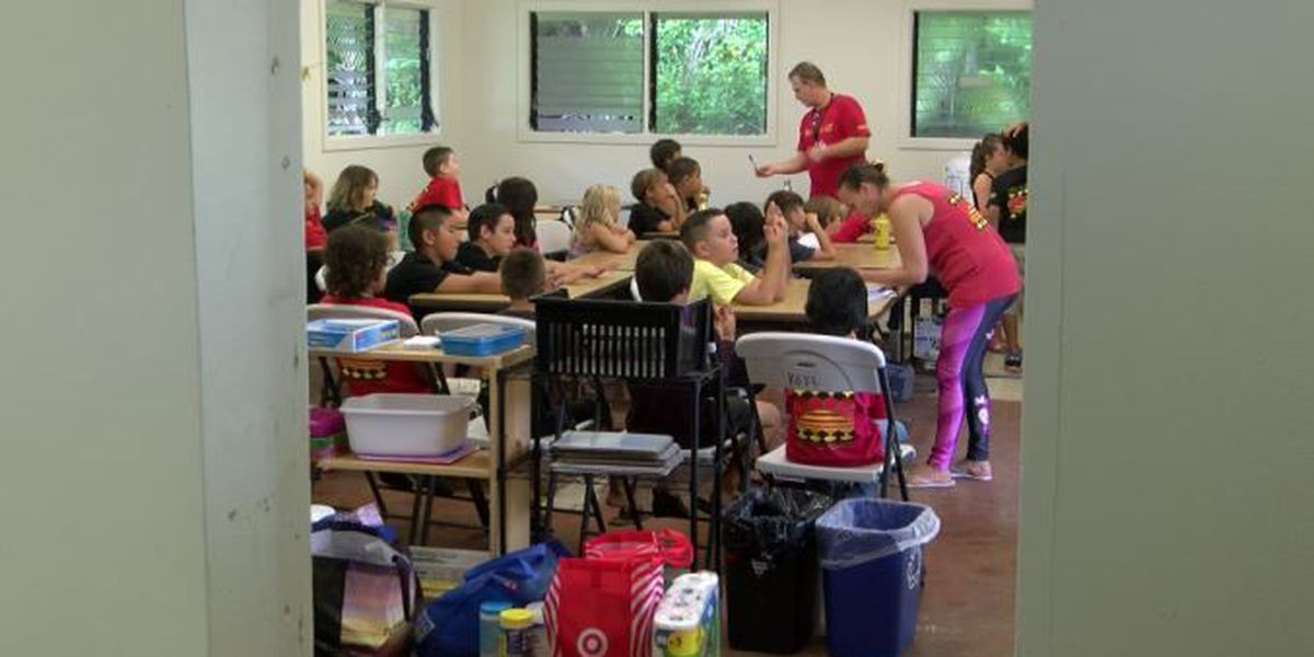 A charter school whose campus was lost to lava starts a new school year