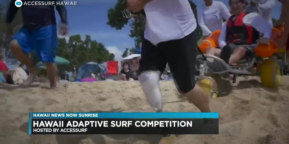 Surfers with disabilities compete in adaptive surf competition