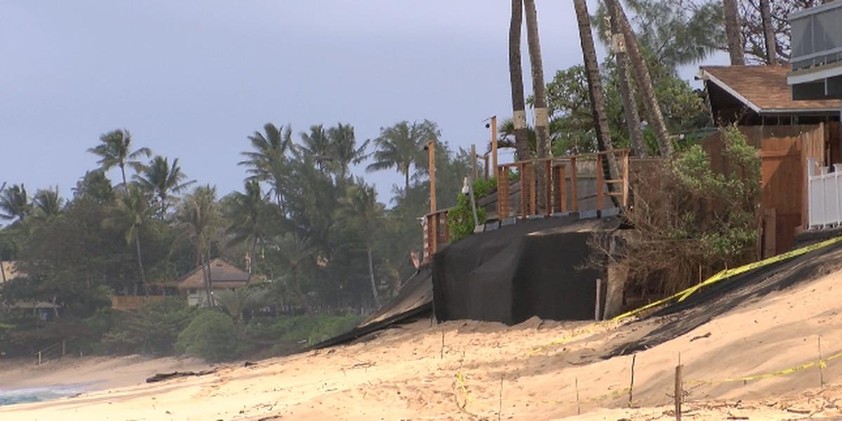Rough ocean conditions churn erosion concerns around Oahu