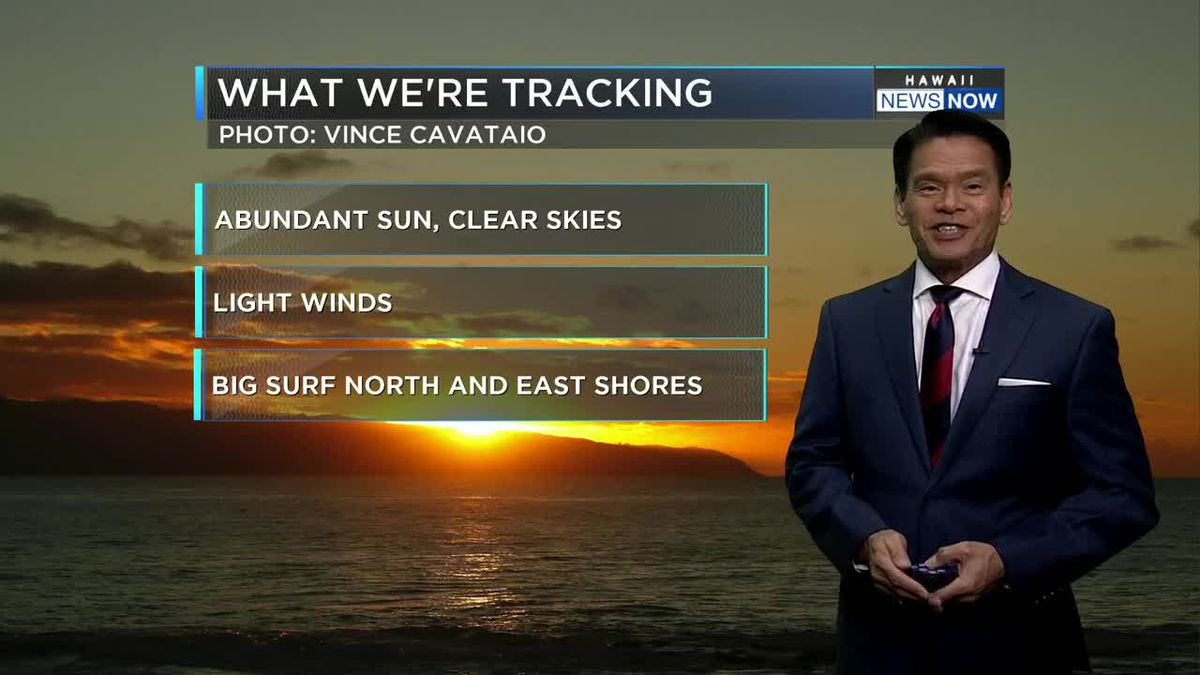 Forecast: Clear skies, gentle winds, almost no rain