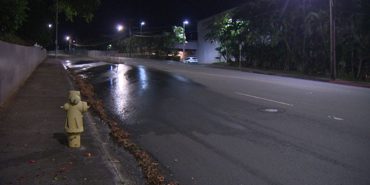 BWS repairing 12-inch water main break near Pearlridge Center