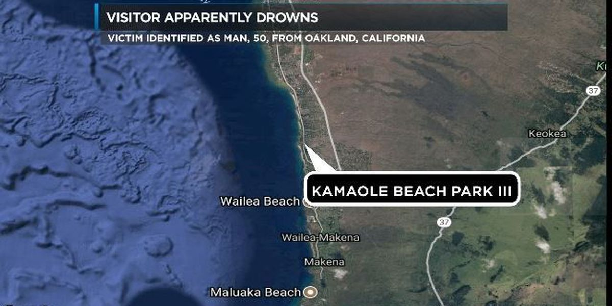 California man apparently drowns in South Maui waters