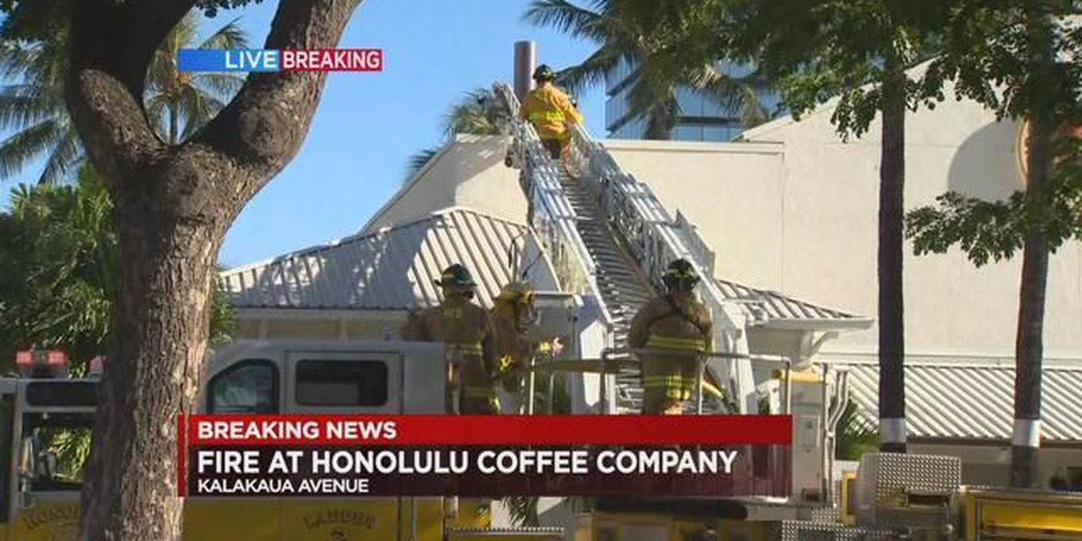 All lanes of Kalakaua Ave. reopened after small fire at Honolulu Coffee Company