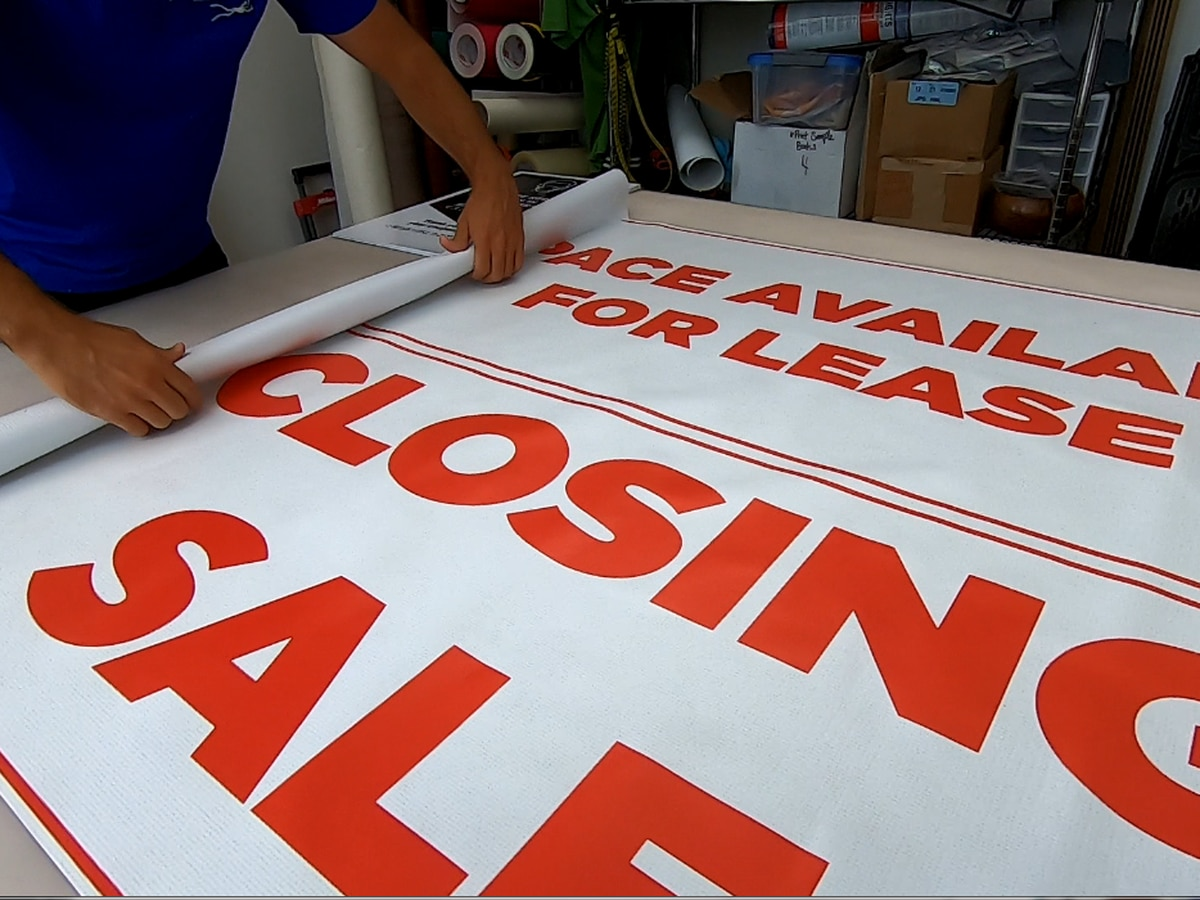 Sign of the times: Orders for 'business closing' signs are way up