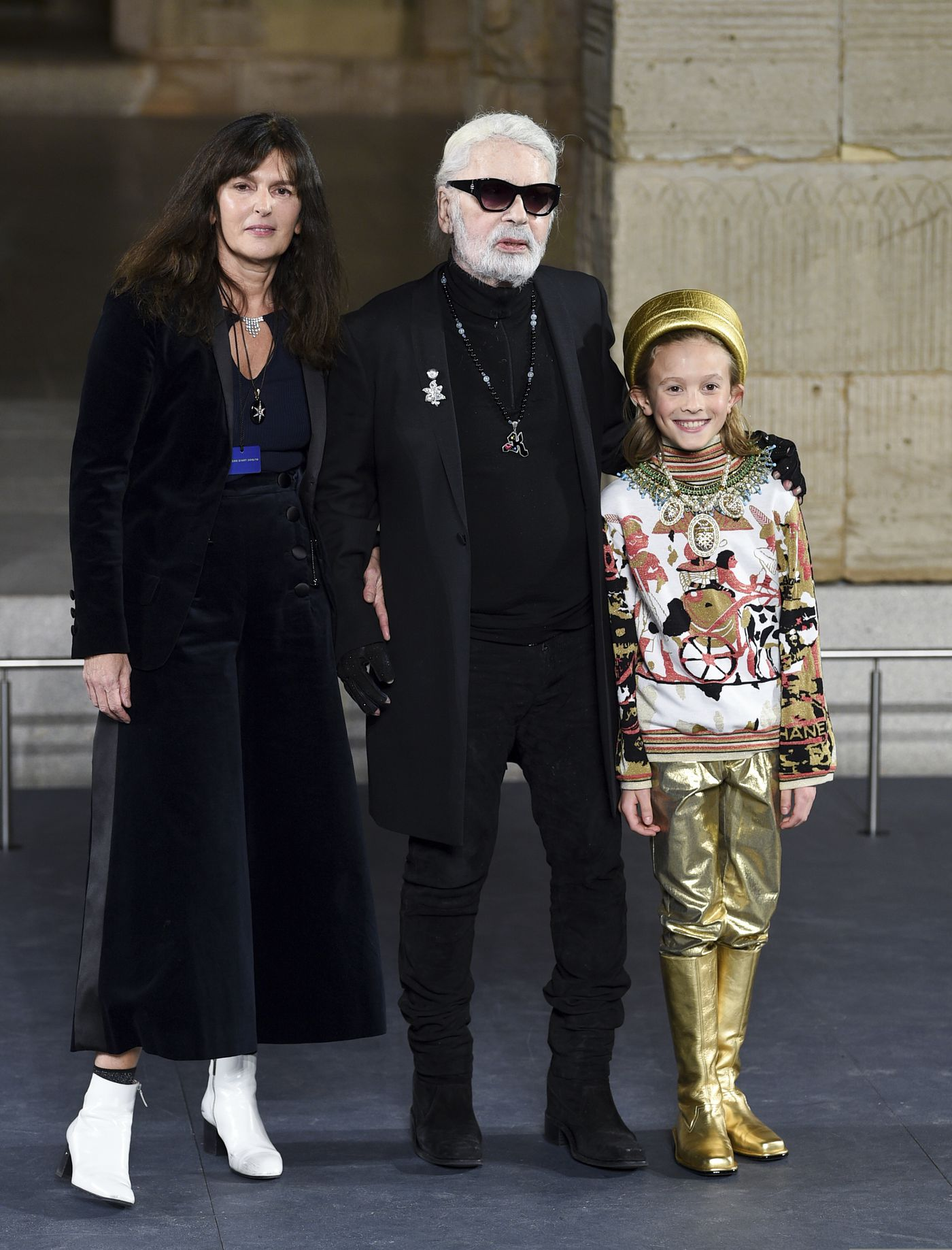 5d050f71850 Chanel s Lagerfeld channels ancient Egypt with mini-Met Gala