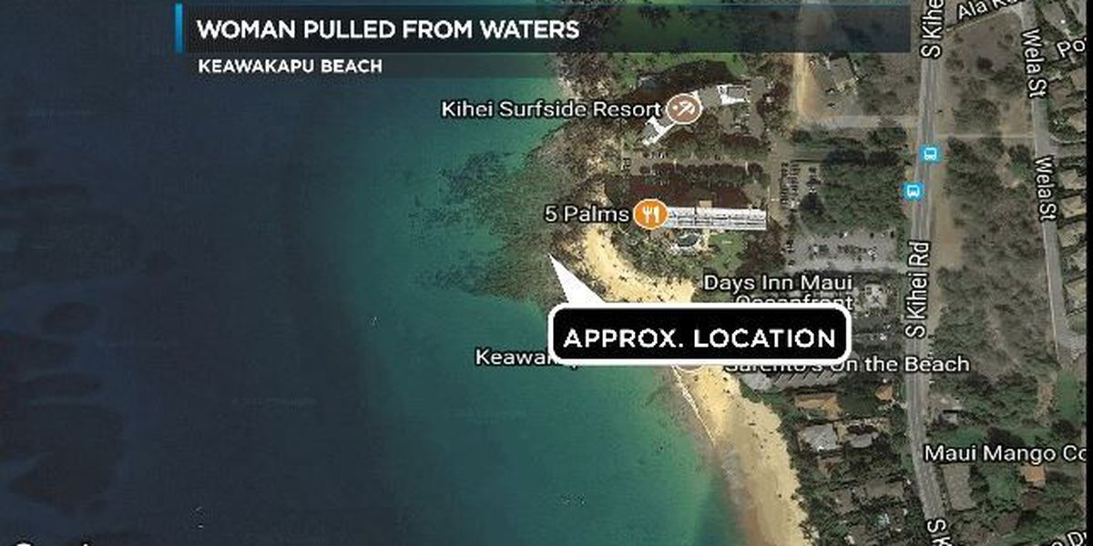 Canadian visitor pulled from waters off Maui's Keawakapu Beach