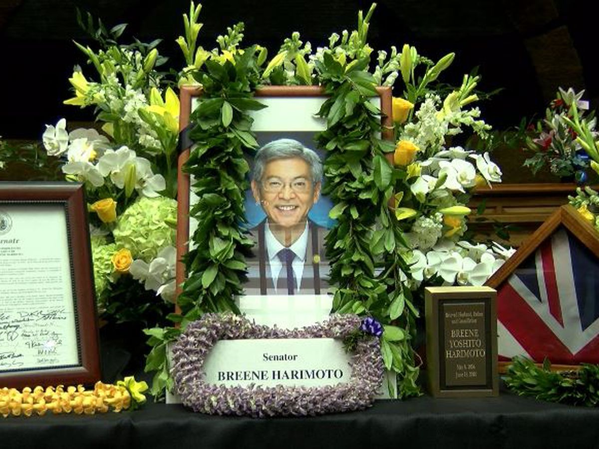 'His legacy will live on': Memorial services honor the late Sen. Breene Harimoto