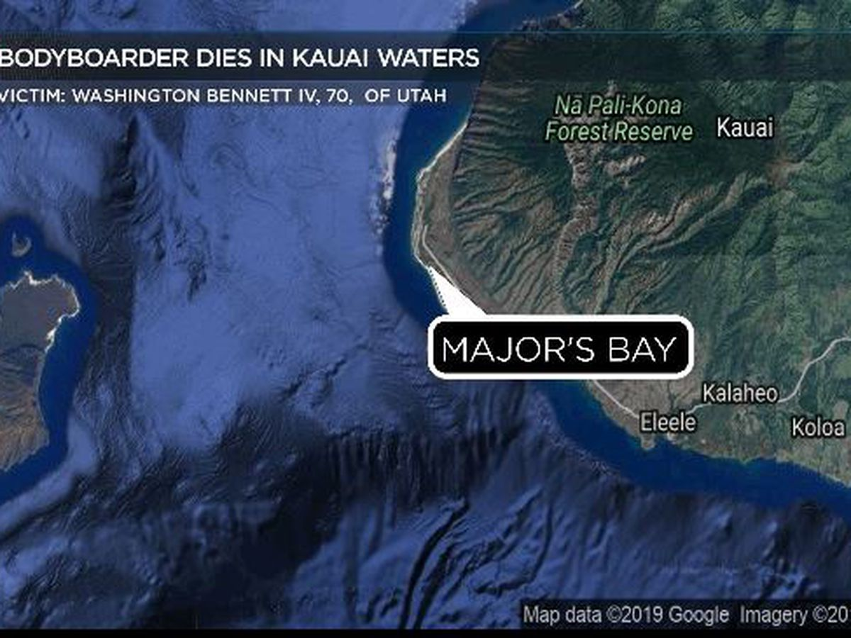 Utah man dies in waters off Kauai's west shore