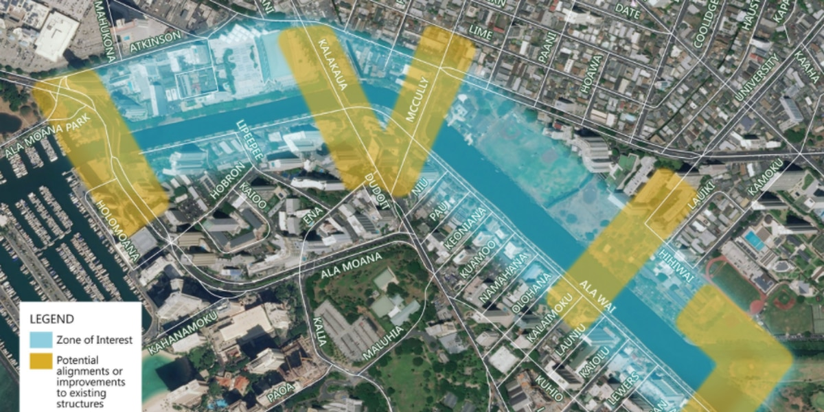 City releases draft assessment for a proposed pedestrian bridge across the Ala Wai Canal