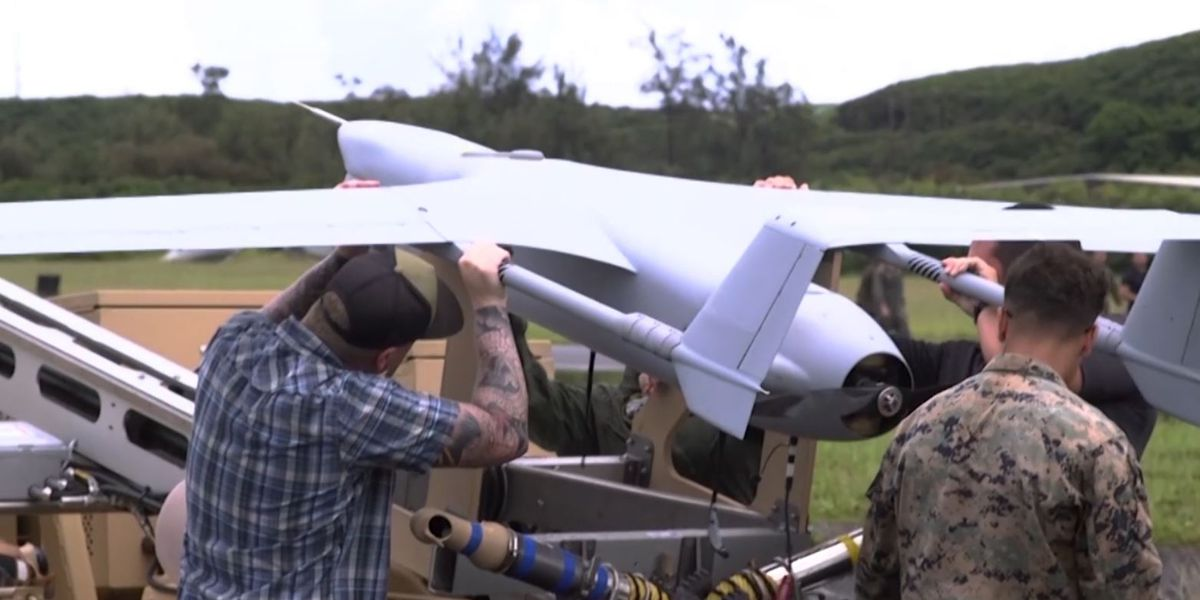 III Marine Expeditionary Force launches drone for first of its kind flight in Hawaii