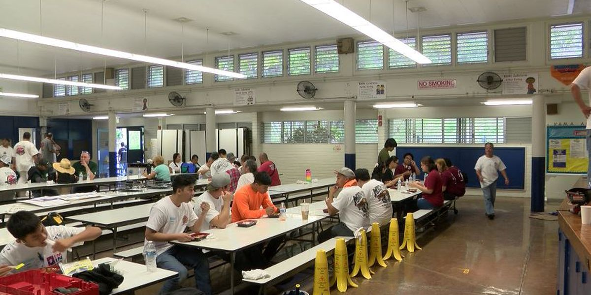 Kalihi Elementary School is cutting back on single-use plastics thanks to a cafeteria upgrade