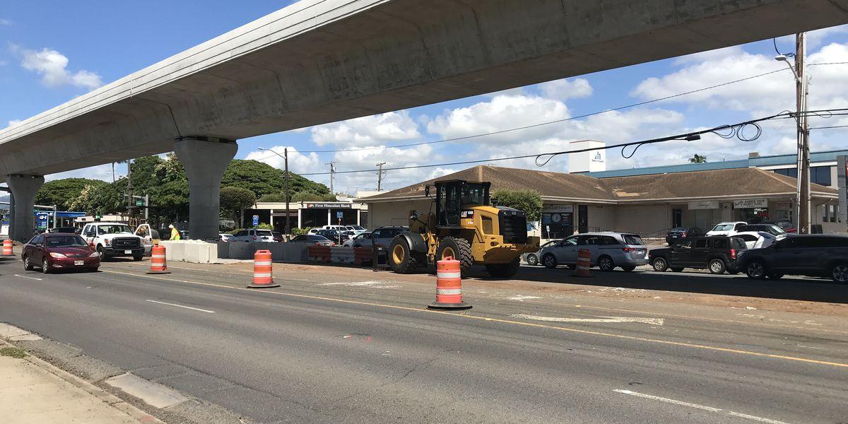 Kamehameha Highway in Pearl City will soon go back to 3 lanes each way