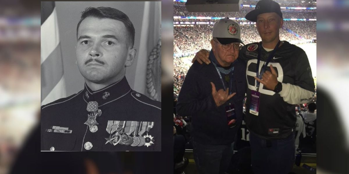 Hawaii Medal of Honor recipient among vets honored at Super Bowl coin toss