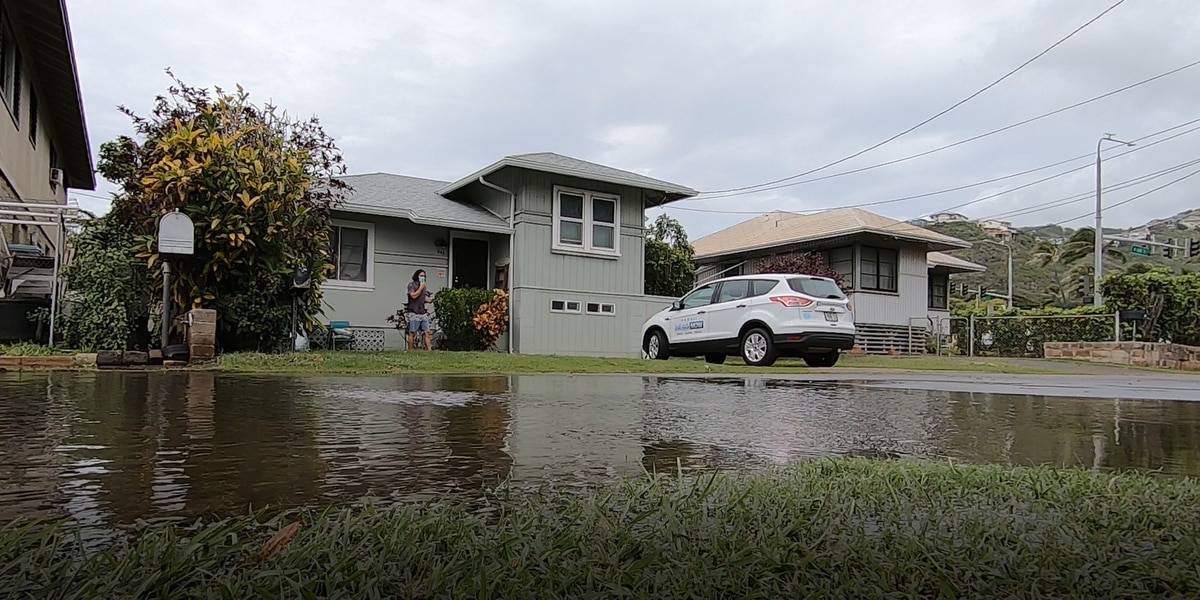 A day after floodwaters flowed into homes, residents in Wailupe begin long clean-up