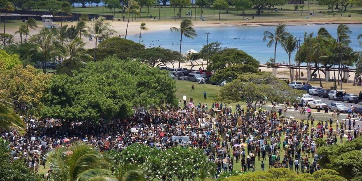 Around Hawaii, thousands take to the streets in Black Lives Matter protests