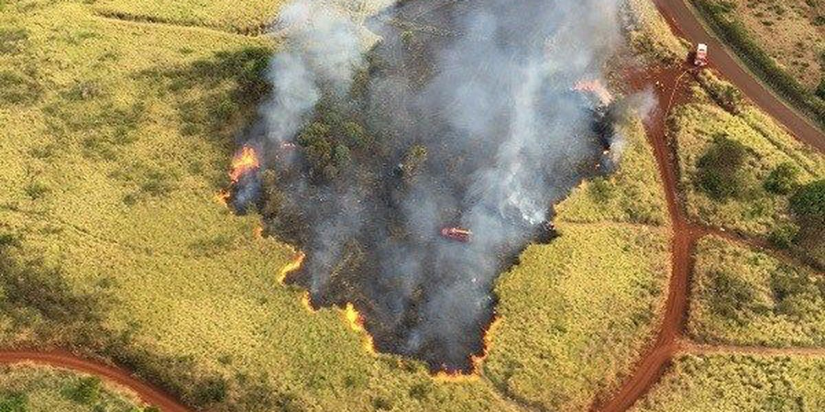 Brush fire scorches 30 acres on Kauai's East Side