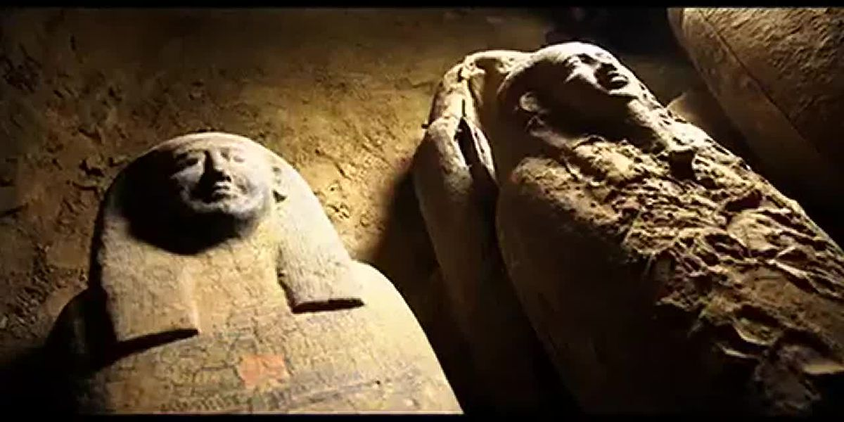 Egypt unveils wooden coffins buried about 2,500 years ago