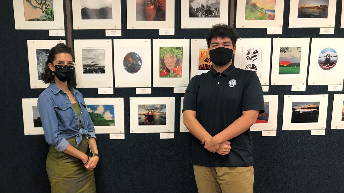 Student art on display at this year's 101st annual Kamehameha Schools Song Contest