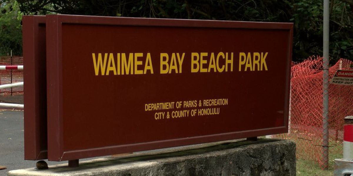 Waimea Bay parking lot closed for upgrades, repaving